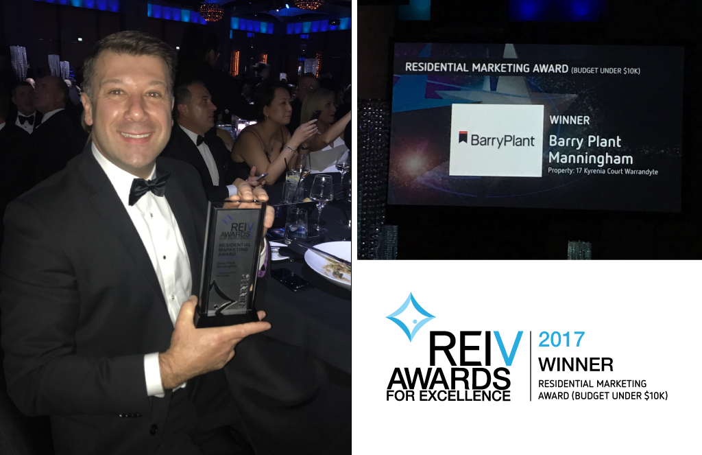 Barry Plant Manningham wins REIV Property Marketing Award
