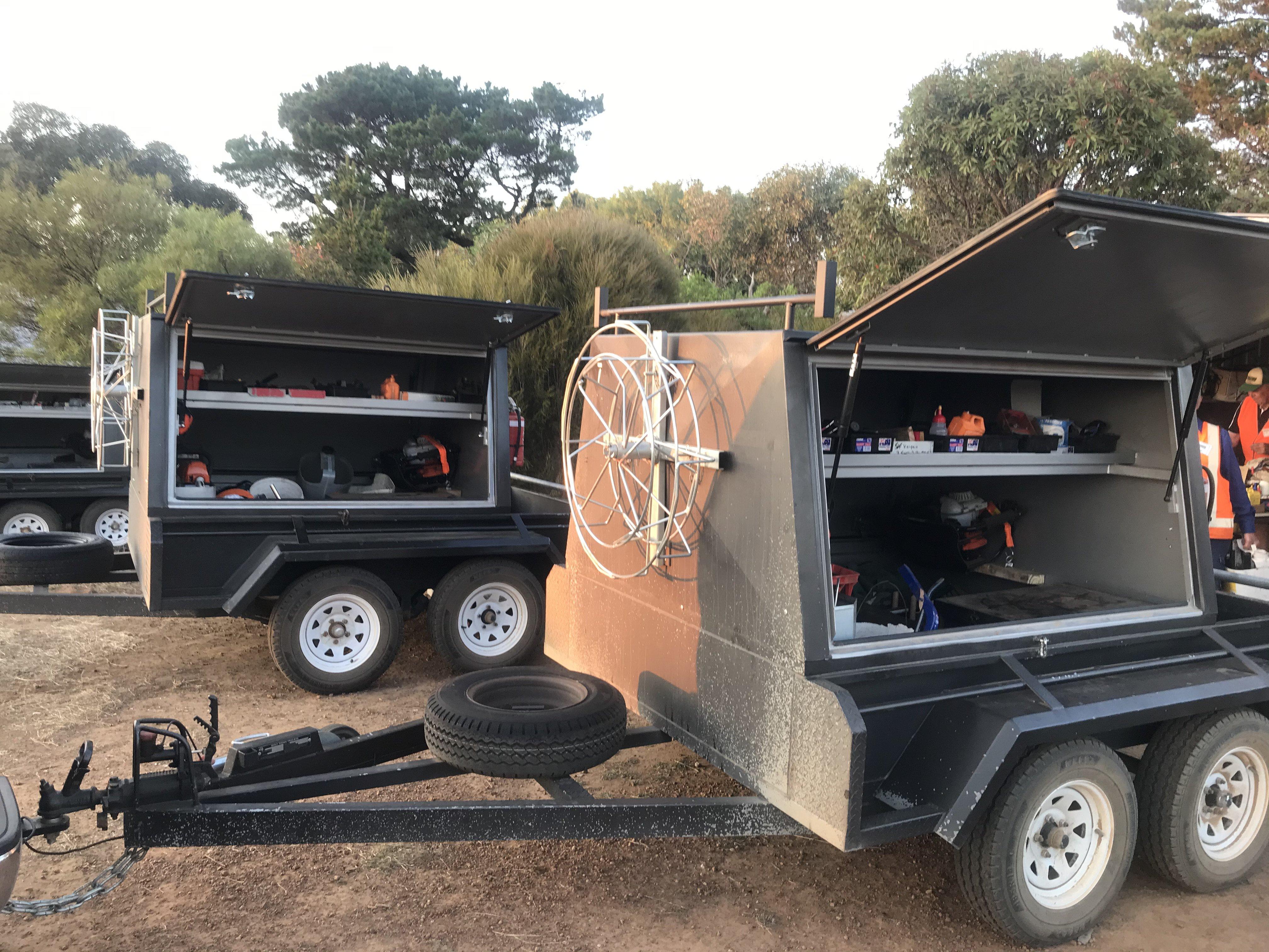 Blaze Aid fencing trailer